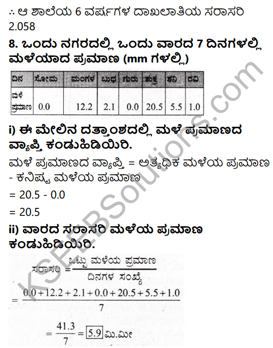 KSEEB Solutions for Class 7 Maths Chapter 3 Dattamgala Nirvahane Ex 3.1 7