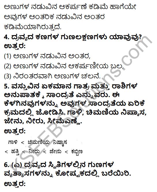 KSEEB Solutions for Class 9 Science Chapter 1 Namma Suttamuttalina Dravyagalu 2