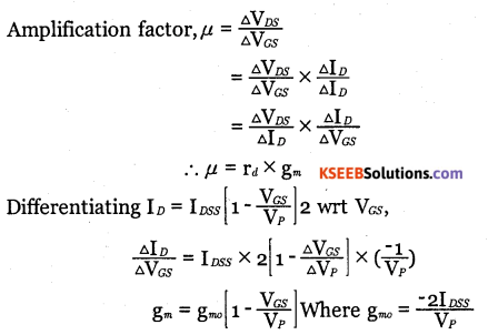 2nd PUC Electronics Question Bank Chapter 1 Field Effect Transistor (FET) 16