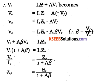 2nd PUC Electronics Question Bank Chapter 4 Feedback in Amplifiers 18