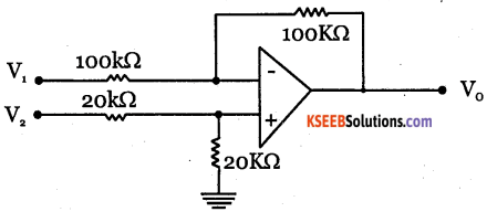 2nd PUC Electronics Question Bank Chapter 5 Operational Amplifiers(OP-Amp) 86