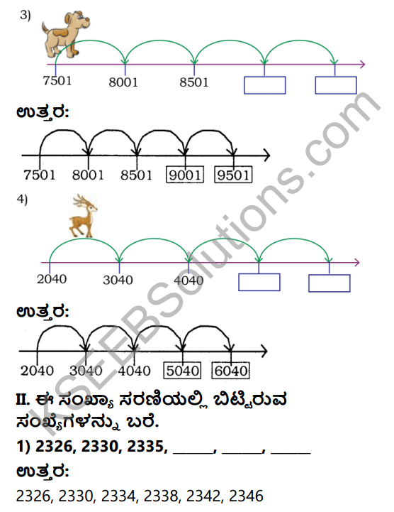 KSEEB Solutions for Class 4 Maths Chapter 2 Numbers in Kannada 17
