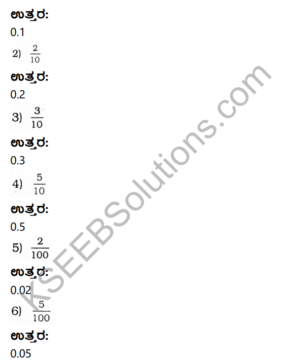 KSEEB Solutions for Class 4 Maths Chapter 9 Fractional Numbers in Kannada 10