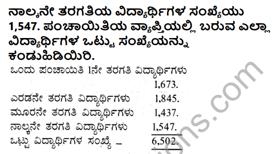 KSEEB Solutions for Class 5 Maths Chapter 2 Addition in Kannada 3