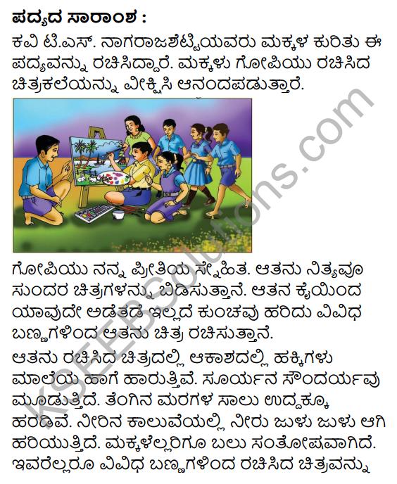 Chitrakale Summary in Kannada 9