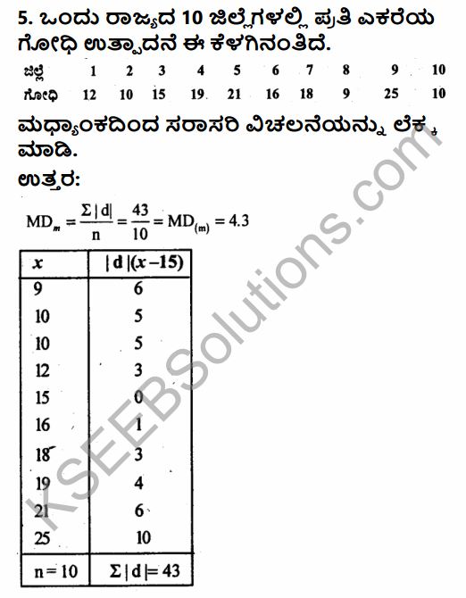 1st PUC Economics Question Bank Chapter 6 Measures of Dispersion in Kannada 32