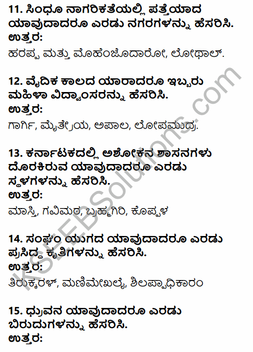 2nd PUC History Previous Year Question Paper March 2015 in Kannada 4