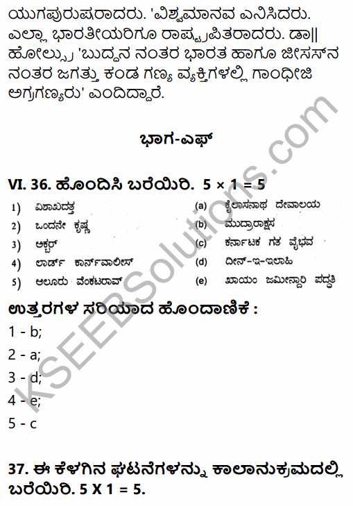 2nd PUC History Previous Year Question Paper March 2015 in Kannada 58