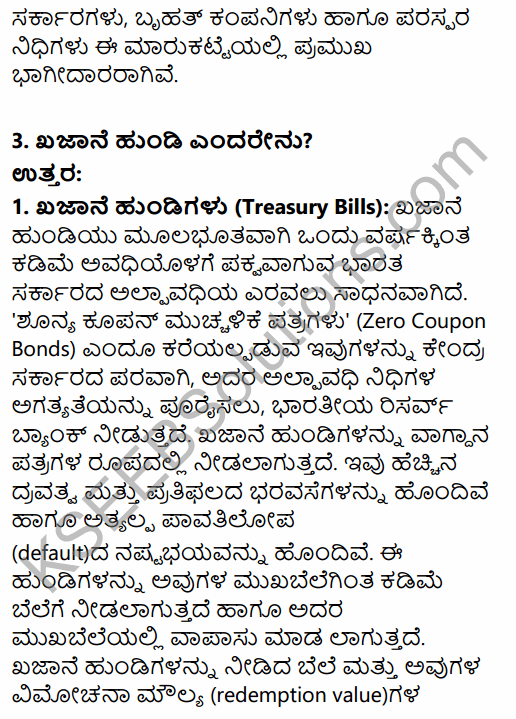 2nd PUC Business Studies Question Bank Chapter 10 Financial Market in Kannada 8