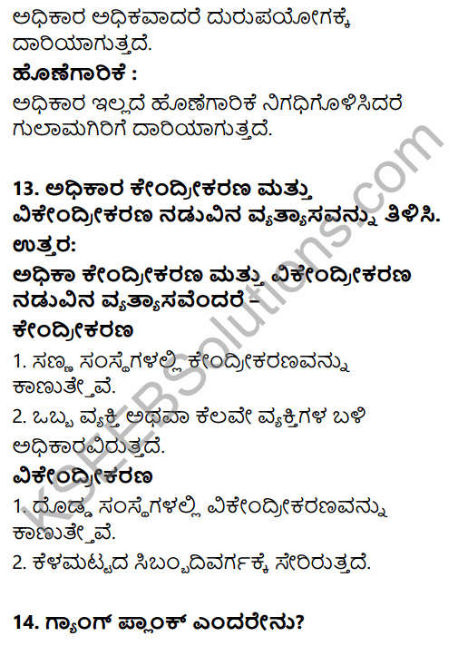 2nd PUC Business Studies Question Bank Chapter 2 Principles of Management in Kannada 62