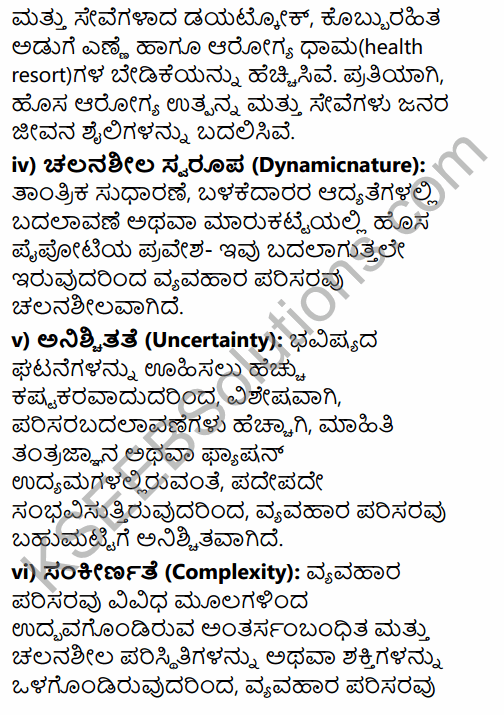 2nd PUC Business Studies Question Bank Chapter 3 Business Environment in Kannada 15
