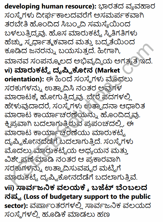 2nd PUC Business Studies Question Bank Chapter 3 Business Environment in Kannada 29