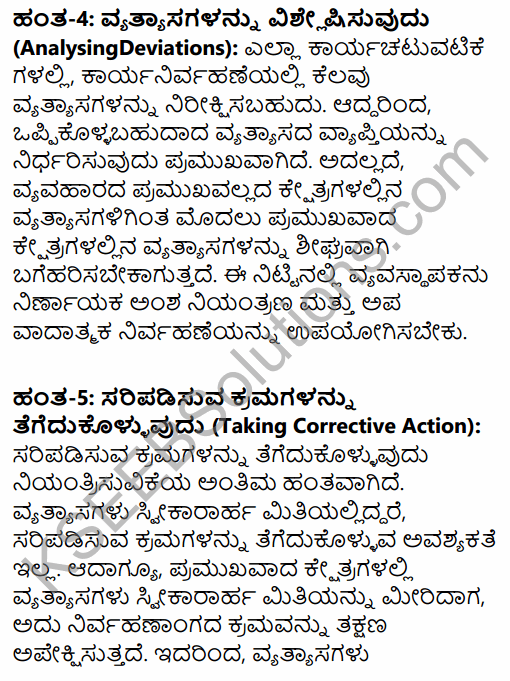 2nd PUC Business Studies Question Bank Chapter 8 Controlling in Kannada 16