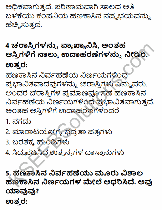 2nd PUC Business Studies Question Bank Chapter 9 Financial Management in Kannada 8
