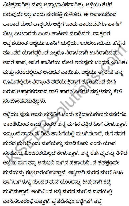 Grandma Climbs a Tree Poem Summary in Kannada 2