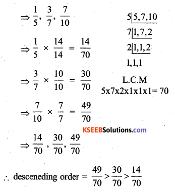 KSEEB Solutions for Class 7 Maths Chapter 2 Fractions and Decimals Ex 2.1 22