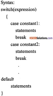 1st PUC Computer Science Question Bank Chapter 10 Control Statements 6