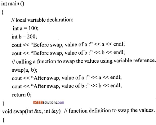 1st PUC Computer Science Question Bank Chapter 13 User Defined Functions 9