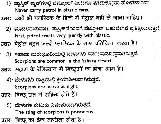 1st PUC Hindi Workbook Answers अनुवाद 9