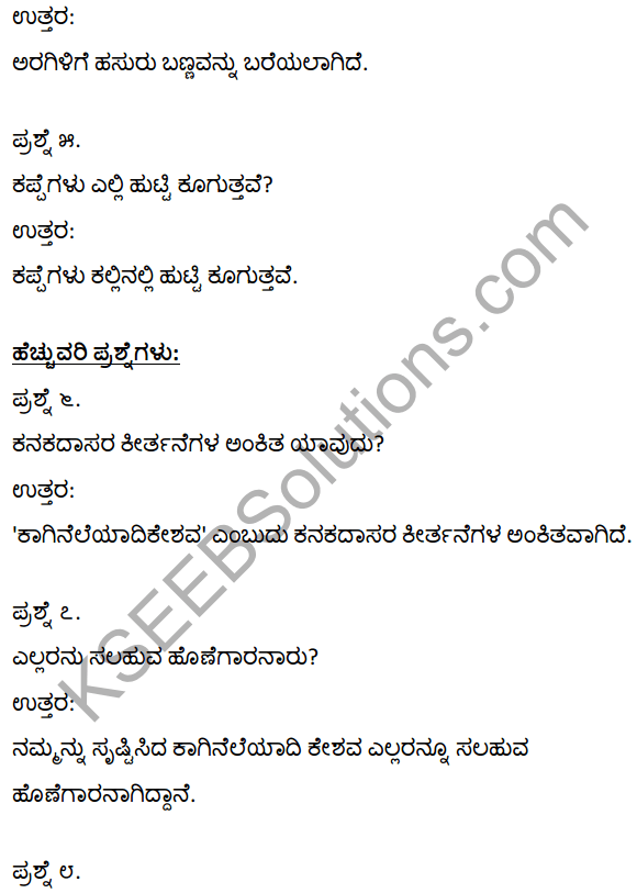 1st PUC Kannada Textbook Answers Sahitya Sanchalana Chapter 5 Tallanisadiru Kandya Talu Manave 5