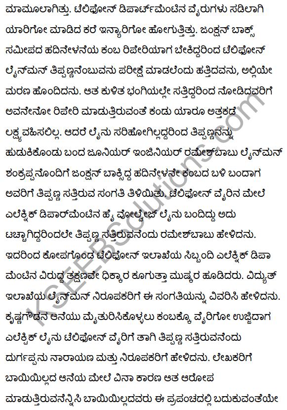 2nd PUC Kannada Textbook Answers Sahitya Sampada Chapter 21 Krishna Gowdana Aane 93