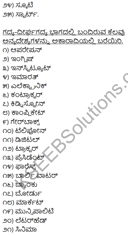 2nd PUC Kannada Workbook Answers Chapter 4 Desya, Anyadesyagalu, Tatsama-Tadbhava Galu 2
