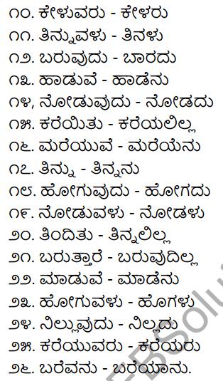 Chapter 8 Kriya Padagalu, Dhatu, Kala Suchaka Galu, Nishedharthaka Rupa 5