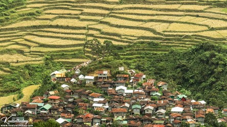 Up close photo of Sitio Favarey and surrounding rice terraces.