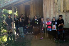 Group photo at the cabin.