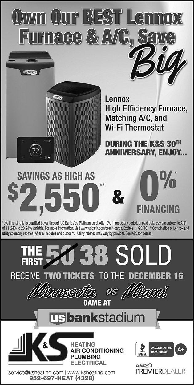 K&S Qtr Page 11-18 System-Vikings-B&W | K&S Heating