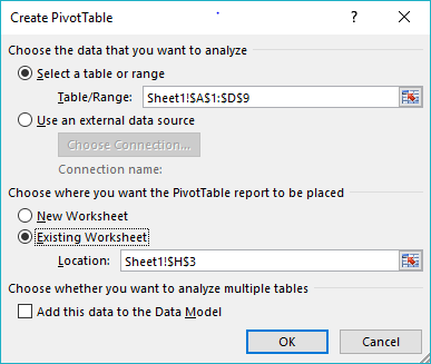 Pivot table'ai ir Slicer'iai