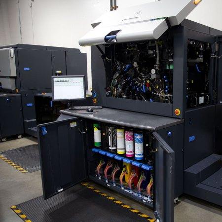 HP digital press - open