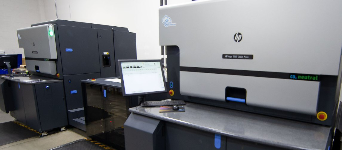 HP digital label printing presses