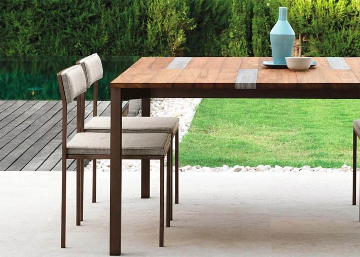 chaises de table exterieur 4 couleurs set de 2 unites casilda par talenti