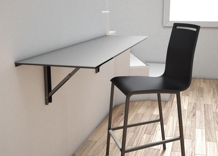table murale pliable ou bureau rabattable en ceramique 8 coloris et 5 dimensions vulcano par cancio