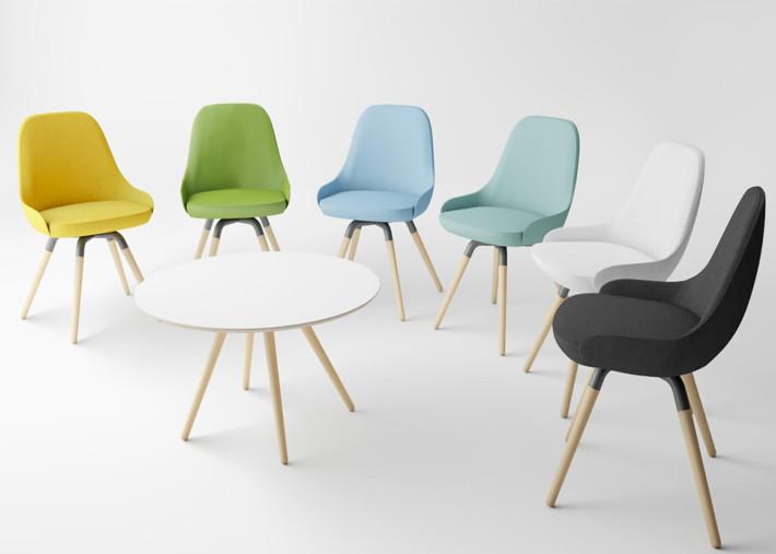 fauteuil de table design et confortable grand choix de couleurs et finiitions nuba l par cancio