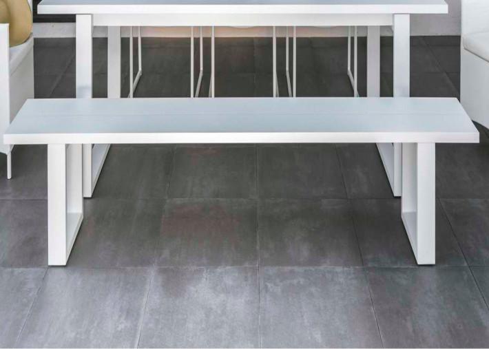 banc de table design en aluminium l 270 cm essence talenti
