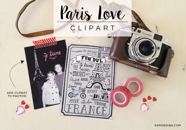 Paris Love Clipart {Free Download}
