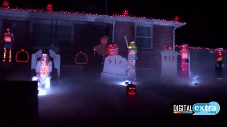 Halloween 2020 Wichita Ks Wichita men use 10,000 Halloween lights to brighten their