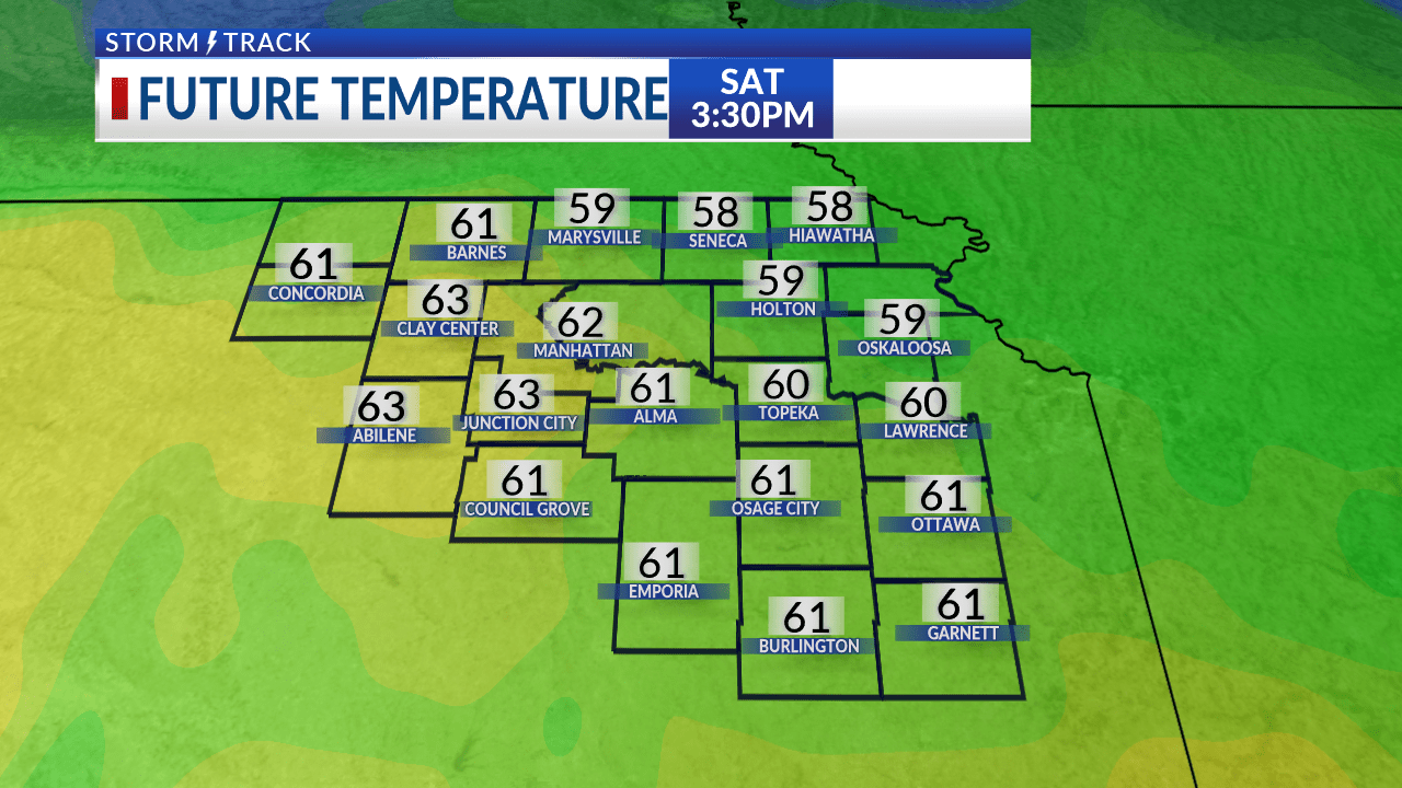 Above average temperatures today with breezy conditions this afternoon