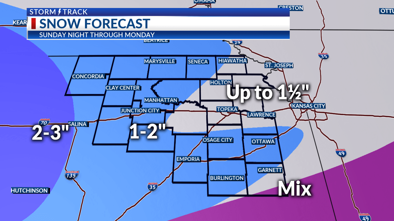 Winter weather spreads in over the next day or so