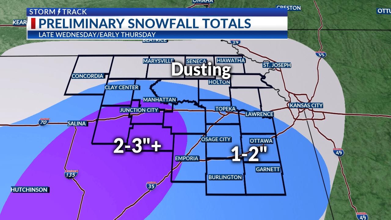 Midweek system brings rain and snow to Northeast Kansas