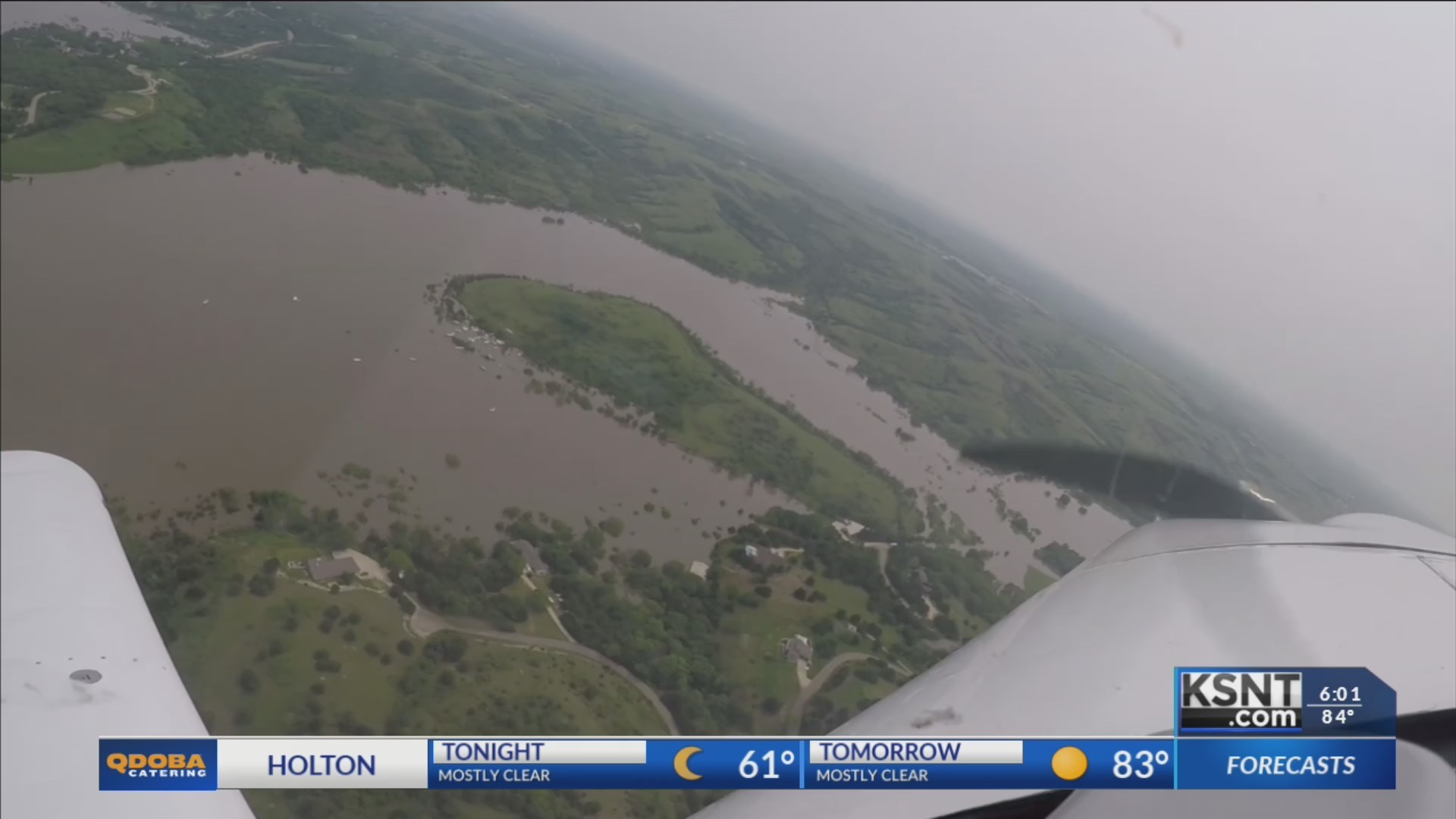 Army Corp increases water released, KSNTs exclusive aerial view of Tuttle Creek