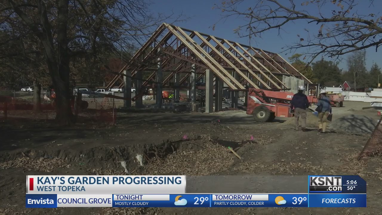 Construction of Kay's Garden on schedule despite weather