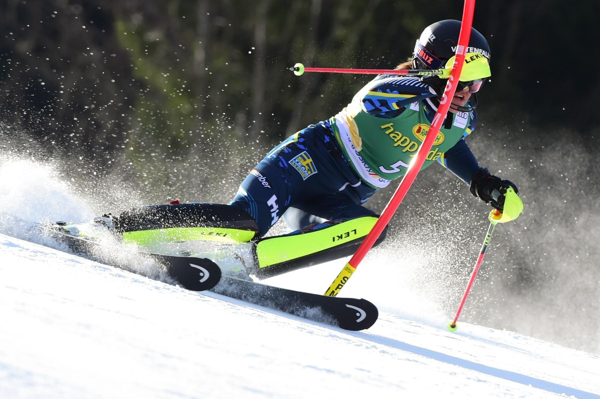 Vlhova Wins Slalom To Overtake Absent Shiffrin In