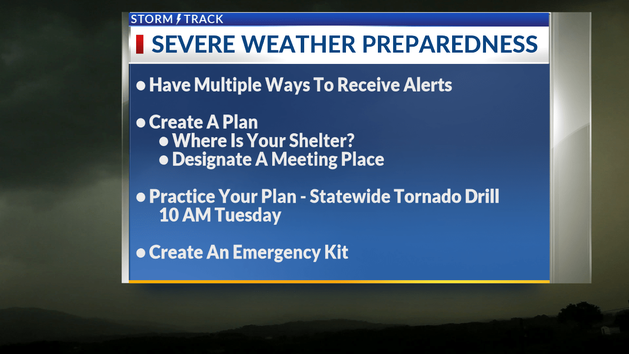 Severe Weather Preparedness Week underway with tips to make a safety plan
