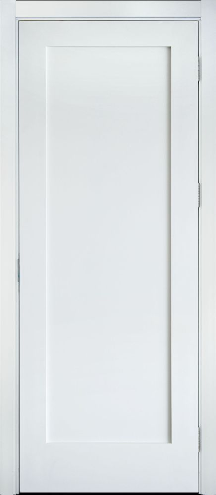 PRIMED WHITE SOLID CORE 1 PANEL SHAKER MISSION STYLE