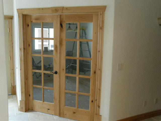 KNOTTY ALDER 10 LITE INTERIOR FRENCH DOORS IN 1007 KSR