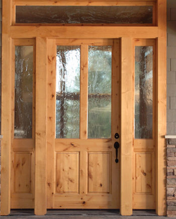 KSR ALPINE KNOTTY ALDER SHAKER ENRTY DOOR 36 X 80 3 LITE