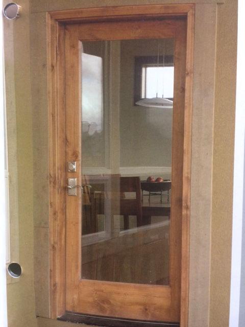 KNOTTY ALDER INTERIOR FULL LITE GLASS DOOR IN 1005 KSR
